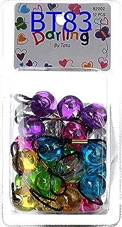 Tara Girls Twinbead Bubble Ball Ponytail Elastics 10 Pieces Selection (BT83)