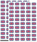 Supertogether Lot de 100, 31x20mm, Drapeau d'Union Jack britannique GB Labels Grands Autocollants Grande-Bretagne
