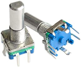 DIYUKMALL Original,Rotary Encoder,Code switch/EC11/ Audio Digital Potentiometer,with Switch,5Pin, Handle Length 20mm,