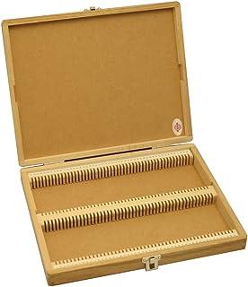 東和産業 プレパラートボックス 木製 100枚用