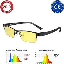 KLIM Optics - Blue Light Blocking Glasses - Reduce Eye Strain and Fatigue - Blue Blocker Gaming Glasses PC Gamer Mobile TV - High Protection for Screens and UV - Blue Blockers Computer Reading Glasses