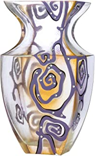 JOZEFINA ATELIER Victoria Bella Abstraction Lilac with Rhinestones-300 Vase, One Size, Purple, Blue, Beige