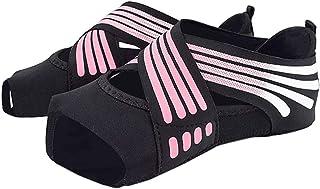 Calcetines de Yoga Antideslizantes para Mujer Zapatos de Yoga sin Dedos Zapatos para Fitness, Danza, Pilates, Ballet