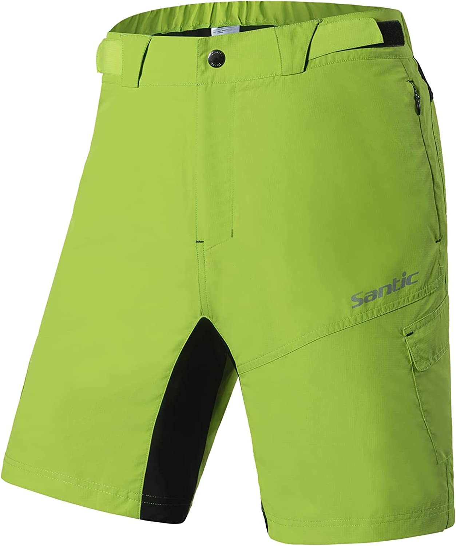 Brand Cheap Sale Venue OFFicial site Santic Men's Loose-fit Mountain Shorts Lightweight Bike Coolmax