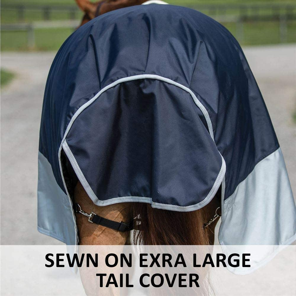Medium Weight Windproof /& Breathable Euro Fit Protection Waterproof Criss-Cross Surcingle Dura-Tech Horse Turnout Blanket Various Sizes and Colors 220 Grams