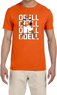 Tobin Clothing Orange Cleveland Odell Text Pic T-Shirt