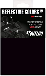 VFLUO 3M REFLECTIVE COLORS, Universal adhesive DIY kit for Helmet/motorbike/Scooter/Bike, 3M Technology, 10 x 15 cm sheet, Black