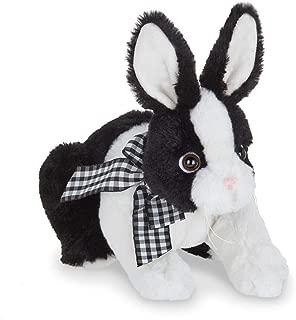 Bearington Checkers Black and White Plush Stuffed Animal Bunny Rabbit, 10 inches