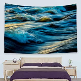 Ofat Home Wave Wall Tapestry Blanket Poster 59''x78.7'' Ocean Beach Surfing Abstract Art Fabric Hanging Home Dorm Decor, Simple Modern Nordic Photography Style