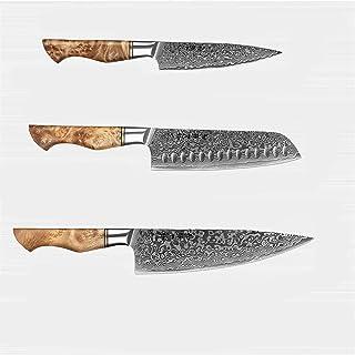 couteau 3PC Kinves-Set professionnel Damascus Steel Chef Santoku Utility Couteau Sharp Cuisine Cuisine Couteau Couteau cou...