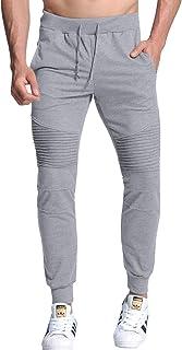 03cb770232e53 MODCHOK Homme Pantalon Jogging Sarouel Survêtement Sweat Pants Sport Longue  Slim Fit