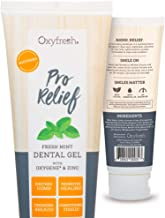 Oxyfresh Pro Relief Dental Gel: Soothes Sensitive Gums - Promotes Healing – Best for: Sore Gums, Tooth Extraction, Oral Surgery, Braces, Dentures, Canker Sore, Etc. - Dentist Recommended - 4 oz