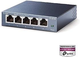 TP-Link Switch 5 Puertos 10/100/1000 (TL-SG105) Ladrón ethernet, Switch ethernet, Switch gigabit, Indicador del estado,...