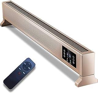 Calefacción, pantalla LCD de calefacción a distancia auxiliar, termostato, temporizador digital para el hogar/jardín de invierno - radiador que no engorda con mando a distancia, de oro, 2200W
