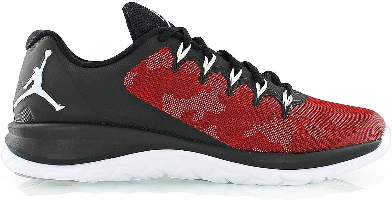 Nike Jordan Mens Flight Runner 2 Black Red Athletic Basketball shoes Sneakers
