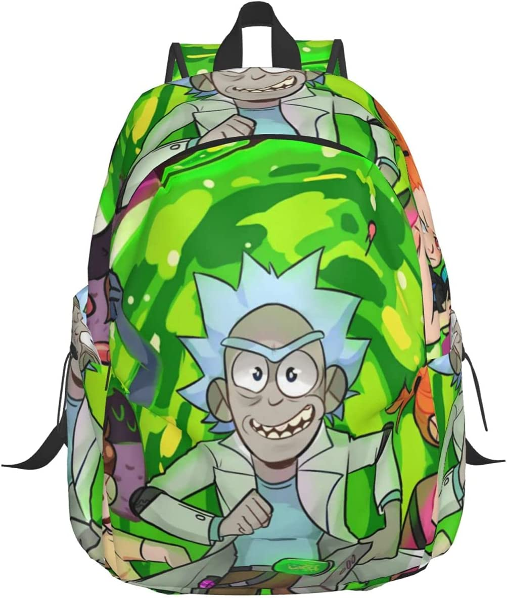 Rick and Super beauty product restock quality top Max 73% OFF Morty animeTravel ca backpack notebook leisure