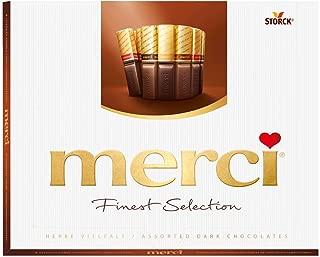 Merci Finest Assortment of European Dark Chocolates 8.8 Ounce, 250 grams