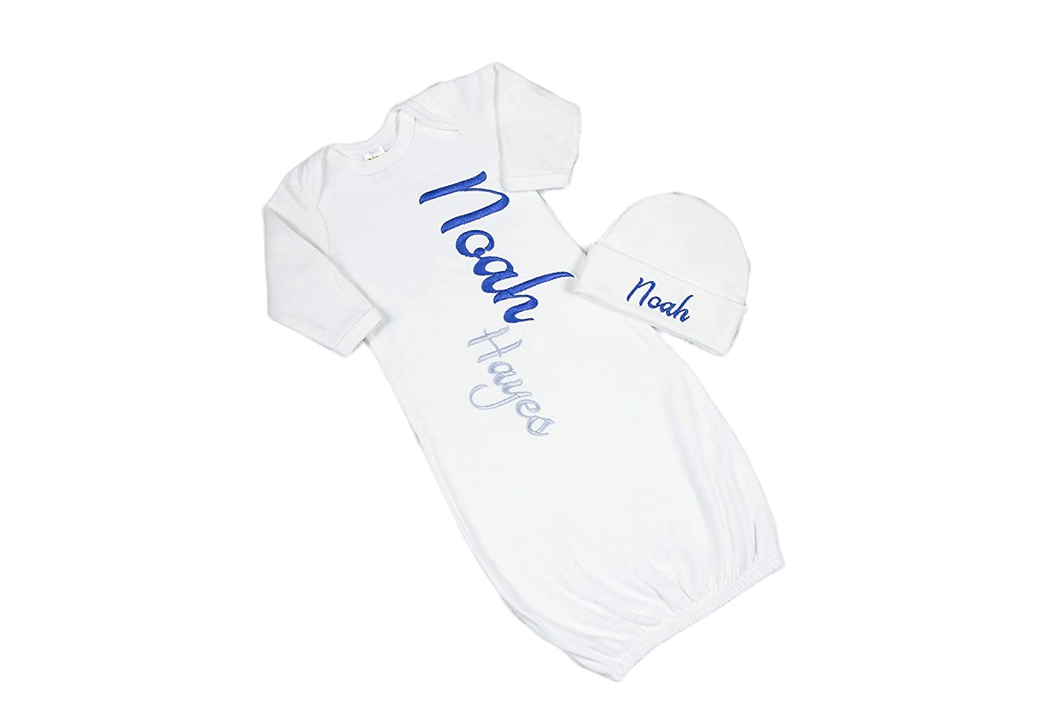 Boy's Royal Blue and Silver Infant New mail order Personalized Gown Coming online shop Home