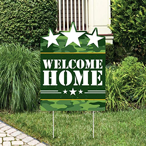 Big Dot of Happiness Welcome Home Hero - Party Decorations - Military Army Homecoming Welcome Yard Sign