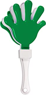 12 Pack - Green/White Hand Clapper Noise Makers Party Favors