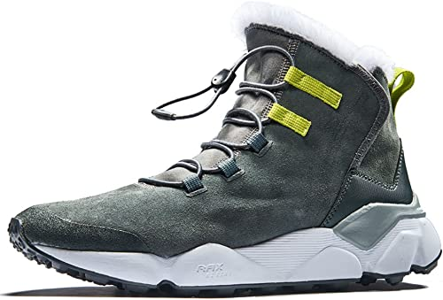 Rax Herren Anti-Rutsch-Schneestiefel mit Fell Gef¨1ttert Winter Wanderschuhe Outdoor-Stiefelette warme Schuhe