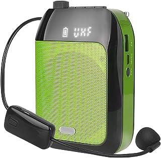 JKGHK音声アンプ、15W充電式飲料マイク、軽量スピーカーはBluetooth、録音、FMラジオ、TFカード/AUXをサポート,グリーン