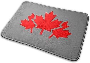 Door Mat Canada Maple Leaf Happy Camper RV Door Mat Monogram Non-Slip Doormat Non-Woven Fabric Floor Mat Indoor Entrance Rug Decor Mat 15.7