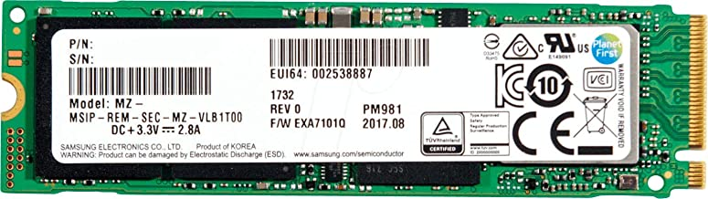 Oemgenuine 256GB M.2 PCIe Gen 3 x4 NVMe Samsung PM981 Solid State Drive SSD, (2280) MZVLB256HAHQ-00000