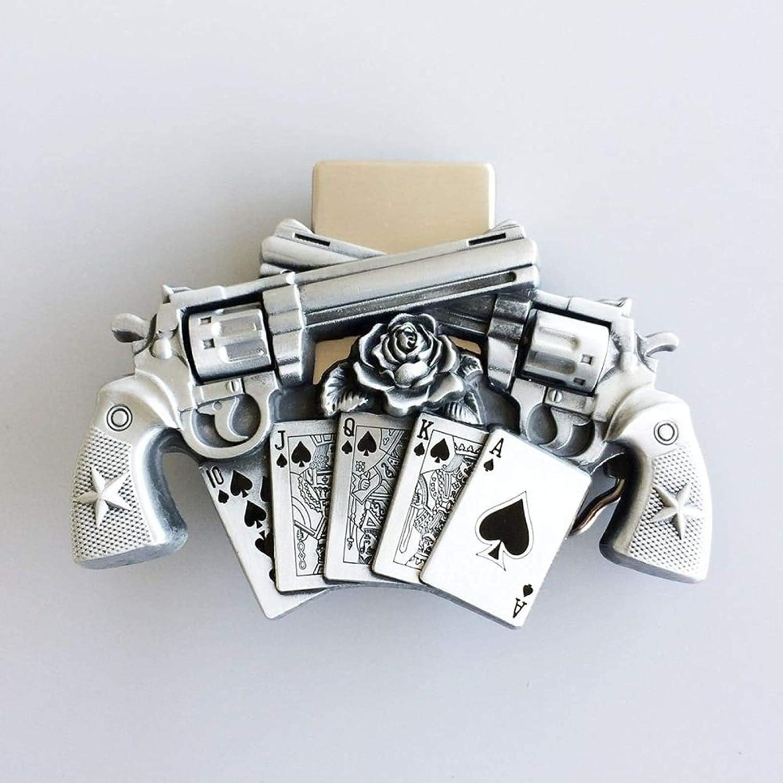Vintage Gun specialty shop Royal Flush Opening large release sale Poker Belt Buckle Lighter Womens Spinner