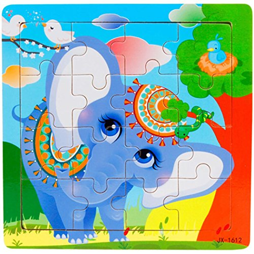 Wooden Jigsaw Puzzles for Kids (16pcs) - Coerni Educational Christmas Gift for Kids (I)