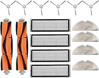 Kit de trapeador de filtro de rodillo lateral para XIAOMI MIJIA 1C STYTJ01ZHM Cleaner, 2 cepillos de rodillo, 6 cepillos l...