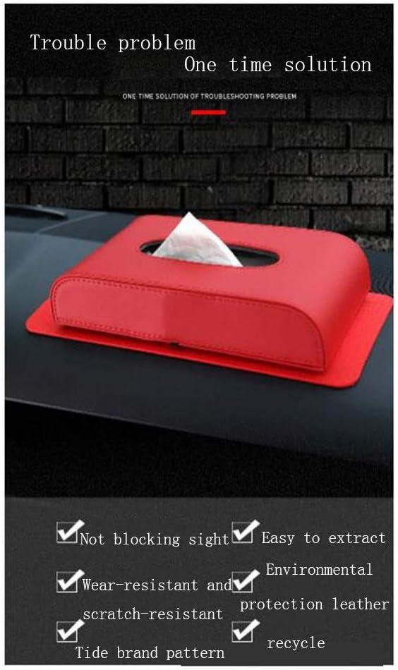 mit Logo F/ür den Innenraum Auto Aufbewahrungstasche Auto Tissue Box-Auto-Sitzleder Anti-Rutsch-Schubbox for Cadillac Color : Black YANFEI Auto Aufbewahrungsbox