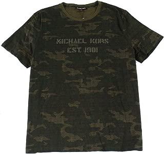 Mens T-Shirt Small Camo Logo Graphic-Print Tee