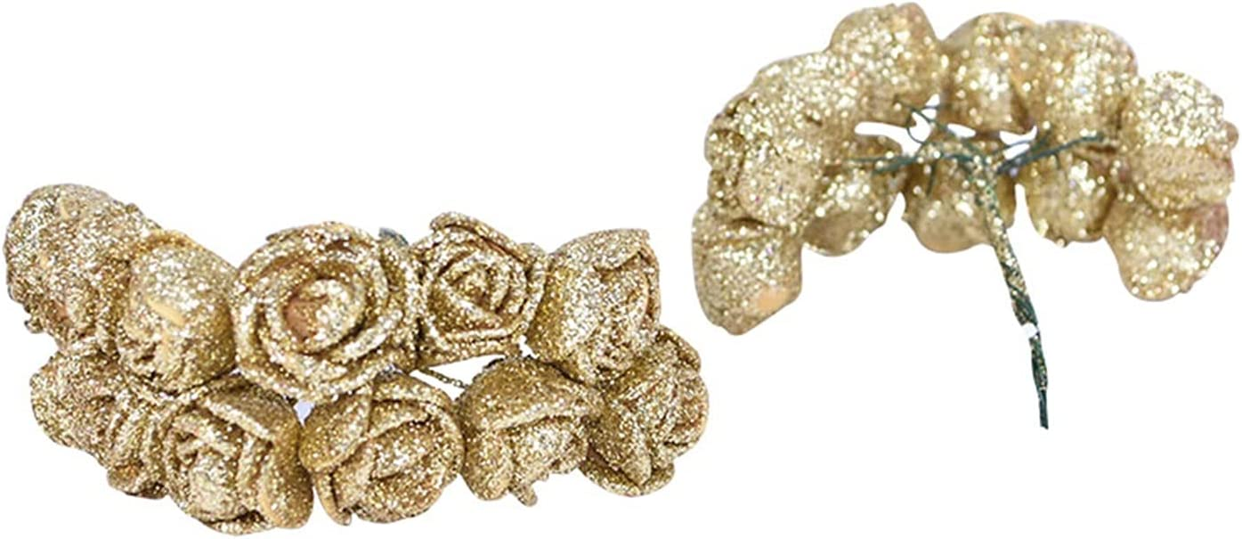 JSJJAQW Artificial Flowers 72pcs Max Nashville-Davidson Mall 65% OFF 2cm Rose Glitter lot