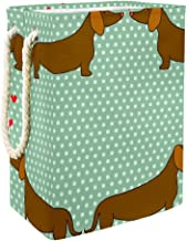 Laundry Hamper Cartoon Dogs Silhouettes On Polka DotLarge Collapsible Laundry Basket