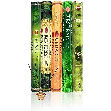 Hem Incense Forest Cedar Pine Rain Forest First Rain 5 x 20, 100 Sticks…