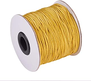 PH PandaHall 1.5mm/ 100 Yards Gold Nylon Braided Lift Shade Cord for Blind Shade Mini Blind Cord Replacement String for Windows, Roman Shade Repair