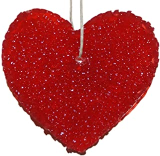 ChicWick Car Candle Leather Fiery Heart Shape Car Freshener Fragrance