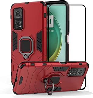 2ndSpring Case for Xiaomi Mi 10T 5G / Mi 10T Pro 5G with Tempered Glass Screen Protector,Hybrid Heavy Duty Protection Shoc...