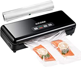 Aicook Vacuum Sealer Machine, Bag Cutter Automatic Food Sealer, Pulse Vacuum Function Food Savers w/Starter Kit|Led Indicator Lights|Easy to Clean|Dry & Moist Food Modes| Compact Design
