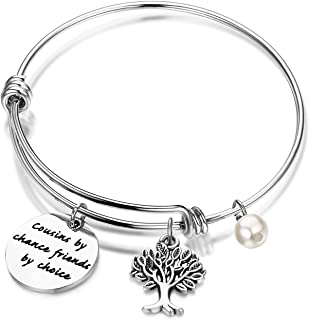 Gzrlyf Cousin Adjustable Bracelet Bangle Cousin by Chance Friends by Choice Charm Jewelry Cousin Gift