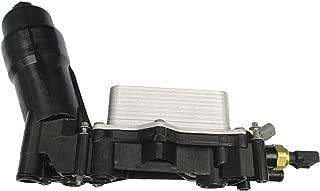 Engine Oil Filter Cooler Housing Assembly Complete Kit Includes Temp Sensors, Bypass Valve, Spring, Filter & Gaskets 68105583AF Fits All 2014-2017 Dodge Chrysler Jeep Models with 3.6L V6 Engine