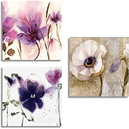 """SIGNFORD 3 Piece Canvas Wall Art for Living Room Bedroom Home Artwork Popular Art Paintings Ready to Hang - 12""""x12""""x3 Panels"""