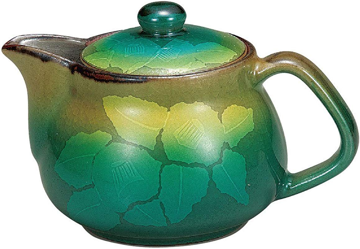 Kutani Pottery Teapot Pot Silver Sasanqua With Tea Strainer