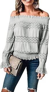 crochet trim bell sleeve top