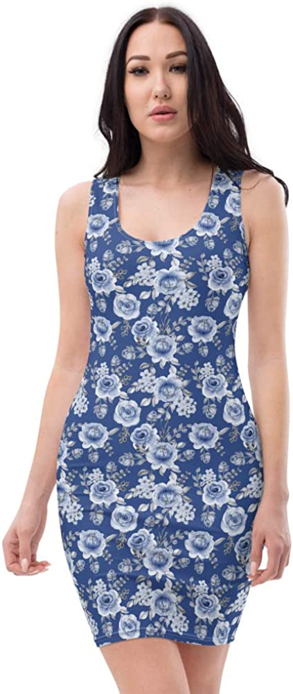 Phoenix Mall Dress NEW before selling with JunglePixie Blue 5 Rose Print