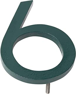 """Montague Metal Products MHN-16-F-HG1-6 Solid Brushed Aluminum Modern Floating Address House Numbers, 16"""", Powder Coated Hu..."""