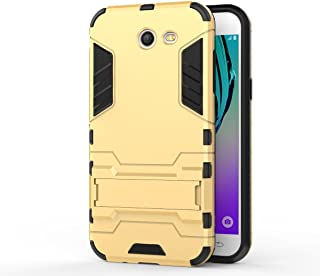 Galaxy J3 Emerge Case, Hybrid Armor Case [2 in 1] Lightweight Protective Coverwith Kickstand for Samsung Galaxy J3 Emerge/J3 Prime/J3 2017/J3 Mission/J3 Eclipse/J3 Luna Pro/Sol 2/Amp Prime 2 - Gold