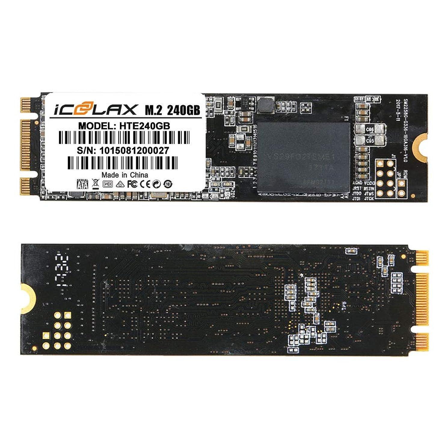 より平らなぴったり不利益ICOOLAX 250GB SSD M.2 NGFF SATA SSD 42mm SATA M.2 ソリッドステート ドライブキューブ i7 スタイラス