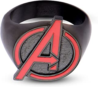 Animewild Marvel Avengers Age of Ultron Avengers Logo Stainless Steel Ring